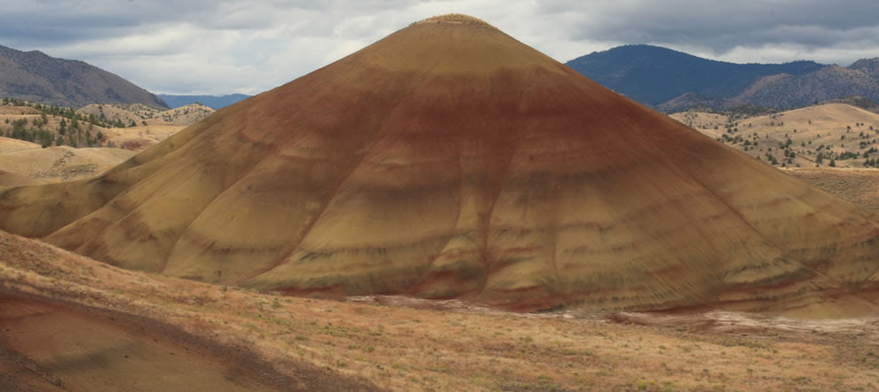 Multi-colored hill at John Day Fossil Beds National Monument