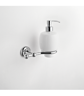Wall Mounted Ceramic Soap Dispenser Holder Naxos Ism