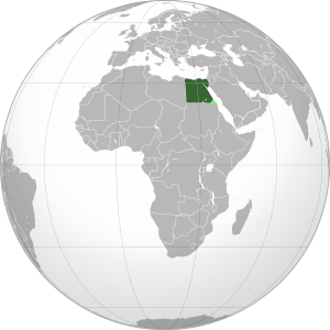 Orthographic map of Egypt