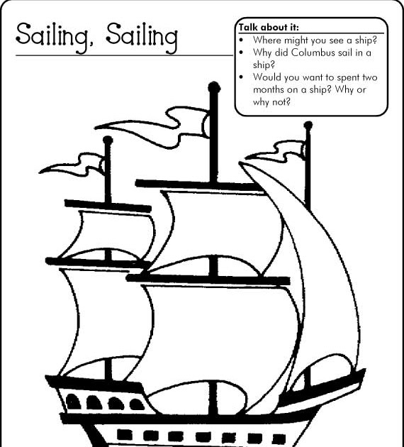 christopher columbus ships coloring pages - christopher columbus new christopher columbus ship