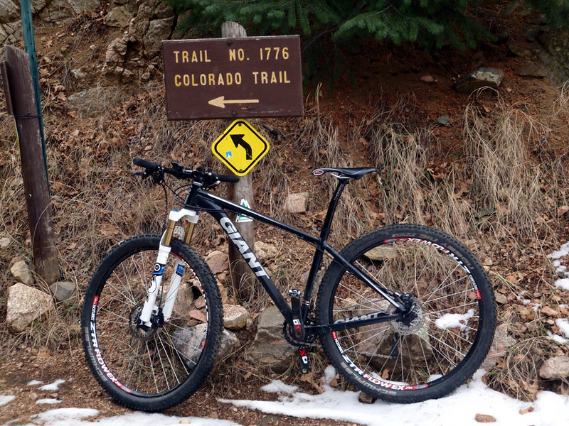 Colorado Trail single track begins here.