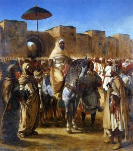 The Sultan of Morocco and his Entourage (1845) - a painting by Eugene Delacroix.