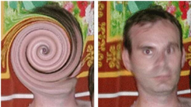 "In 2007, Interpol identified Christopher Paul Neil as the man in a series of ""swirl face"" photos that had been posted online."