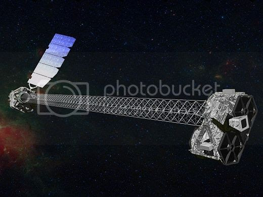 NuSTAR in space: artist's conception