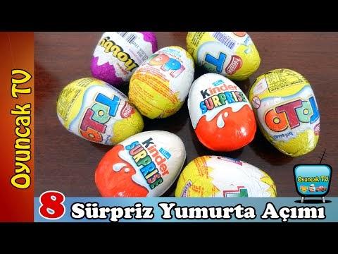 Sürpriz yumurtalar oyun hamurundan