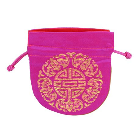 Antje Women's Polyester Longevity Symbol Print MP3 Coin Holder Purse Pouch Pink