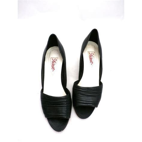 vintage womens shoes  west black peep toe pump brazil