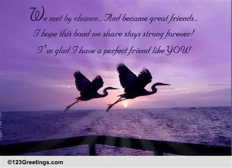 Our Friendship Is A Special Bond. Free Thoughts eCards