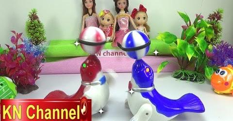 Đồ chơi trẻ em Bé Na Búp bê Chibi xem Xiếc Princess & Clara doll & Animals Circus Childrens toys