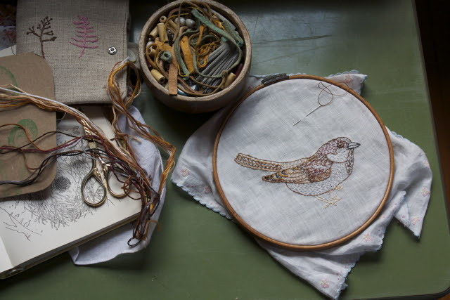 slow sparrow stitching