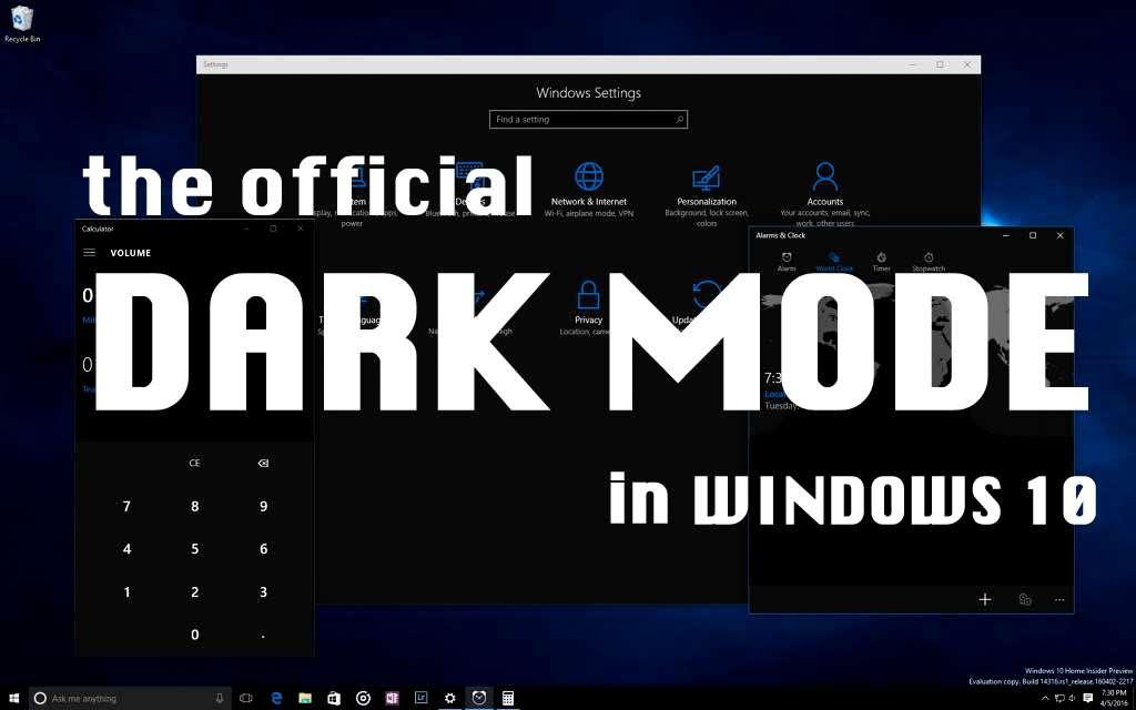 dark mode theme windows 10