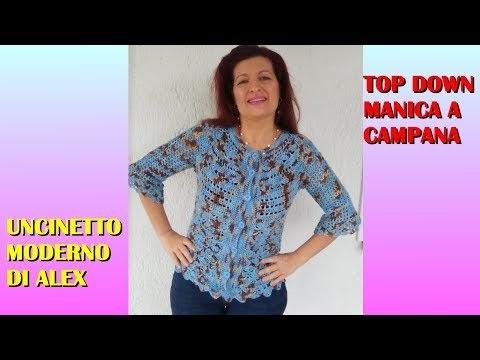 Il Filo Di Arianna Maglia E Uncinetto Cardigan Top Down Manica A
