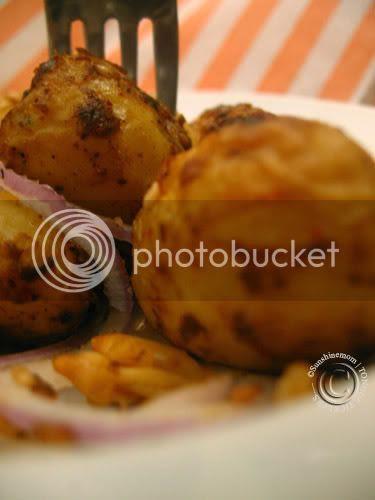 tandoori pesto potatoes