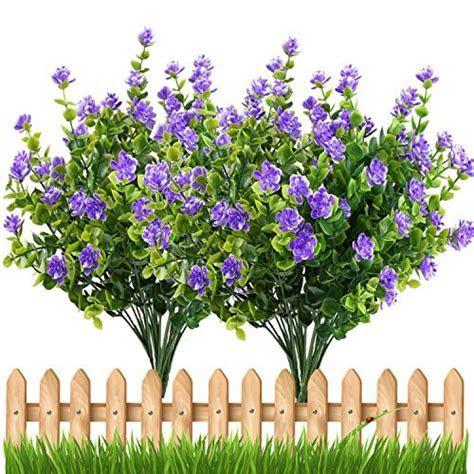 Artificial Flowers Outdoor UV Resistant Plants Shrubs