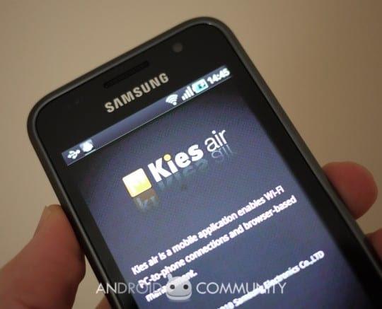 samsung kies air galaxy s 1 540x437 Kies Air permite sincronizar tu Samsung Galaxy con el ordenador de manera inalámbrica