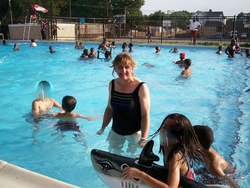Diana at the pool