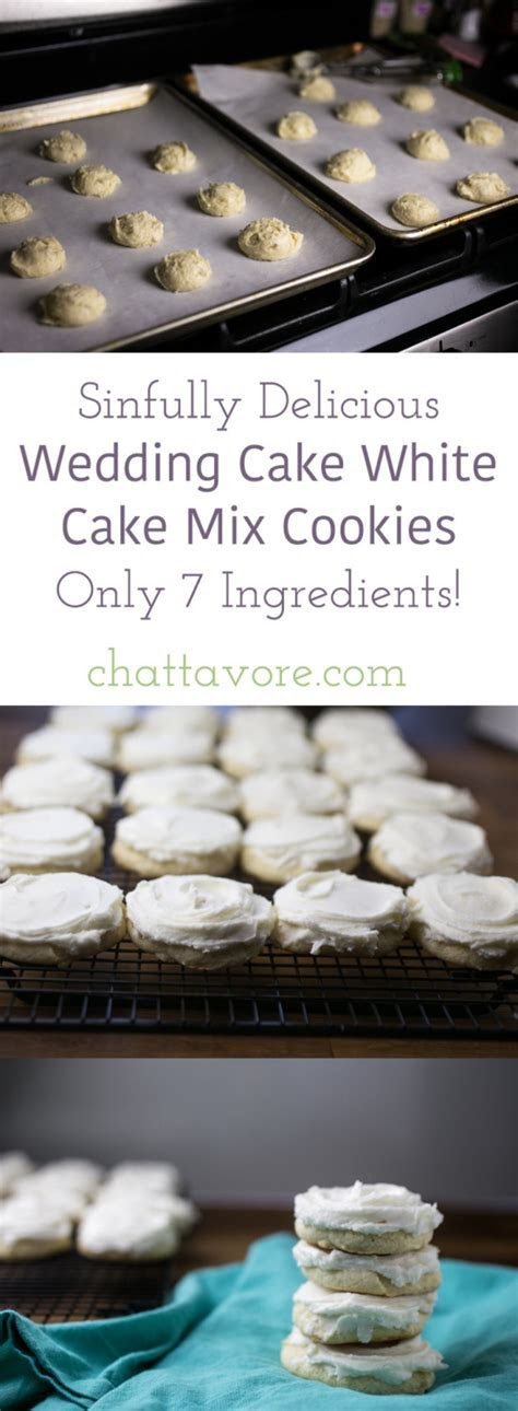 Wedding Cake White Cake Mix Cookies   Chattavore