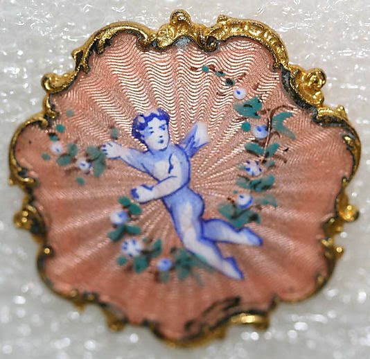 1860s French enamel button.