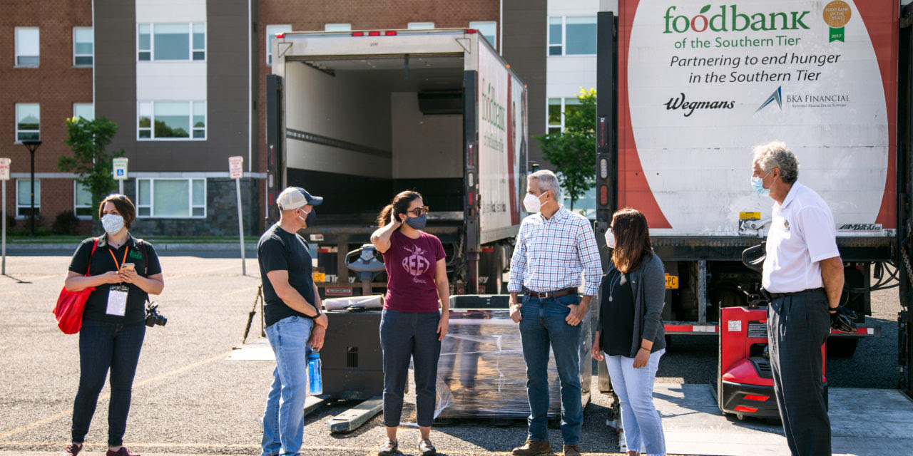 Congressman Anthony Brindisi helped out the Food Bank of ...