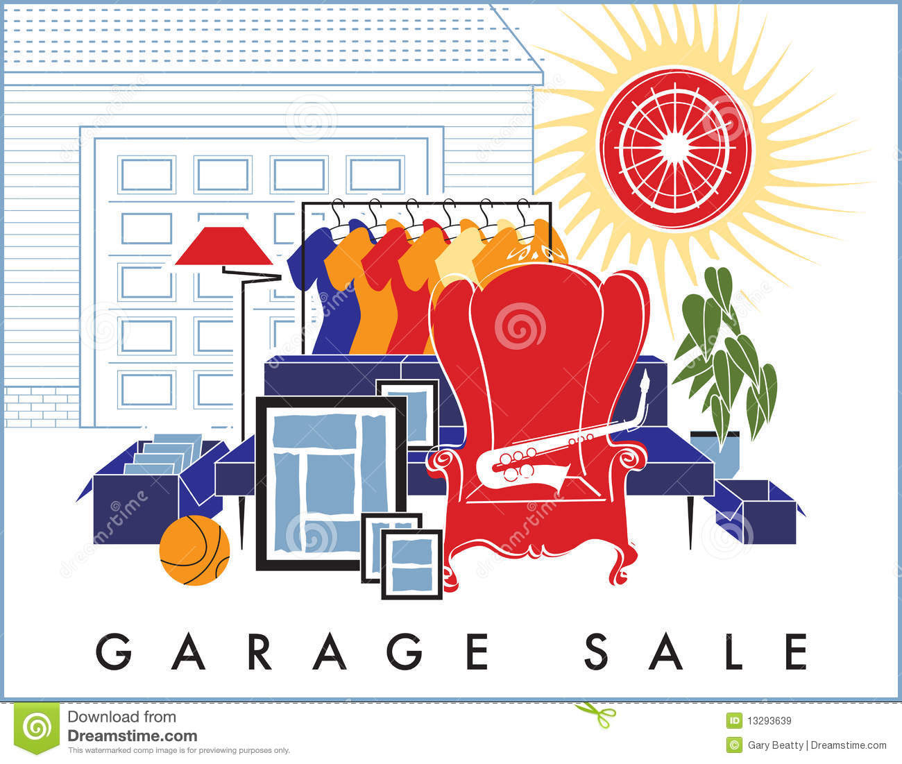 yard sale clip art garage sale junk royalty free stock images image KOT7EU clipart