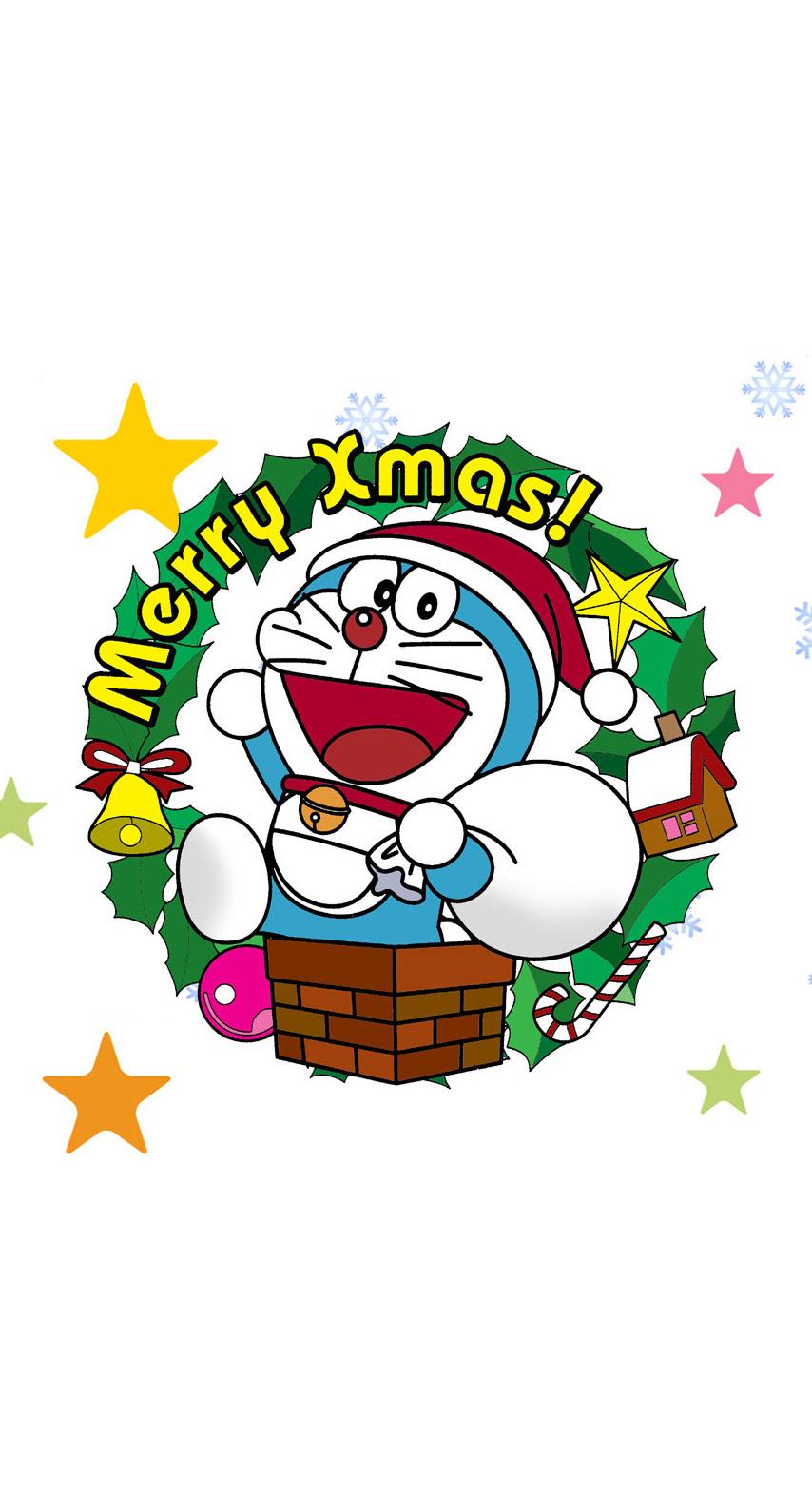 ドラえもんのクリスマス めちゃ人気 Iphone壁紙dj