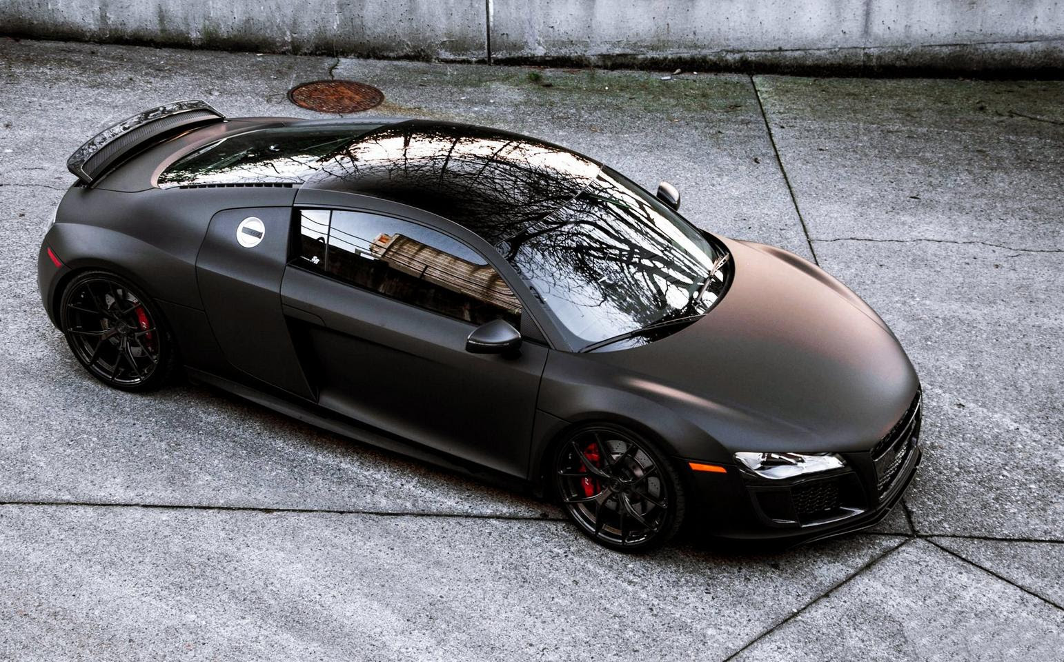 Audi R8 Matte Black And Gold Supercars Gallery