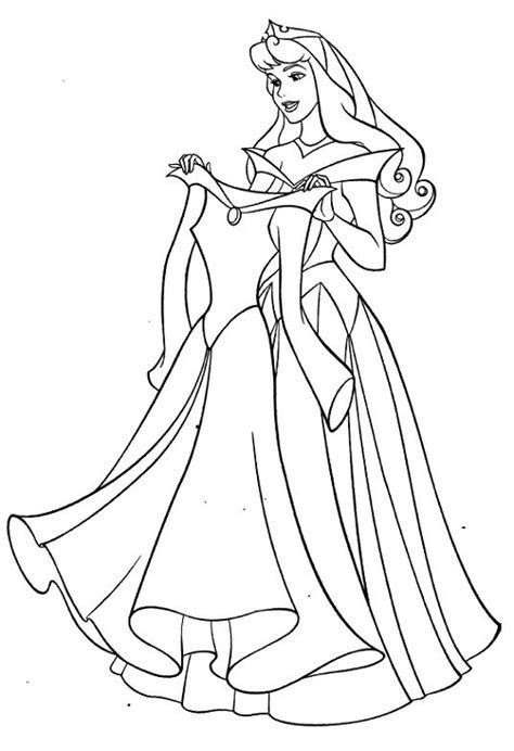 Aurora And New Dress Coloring Pages   coloring pages