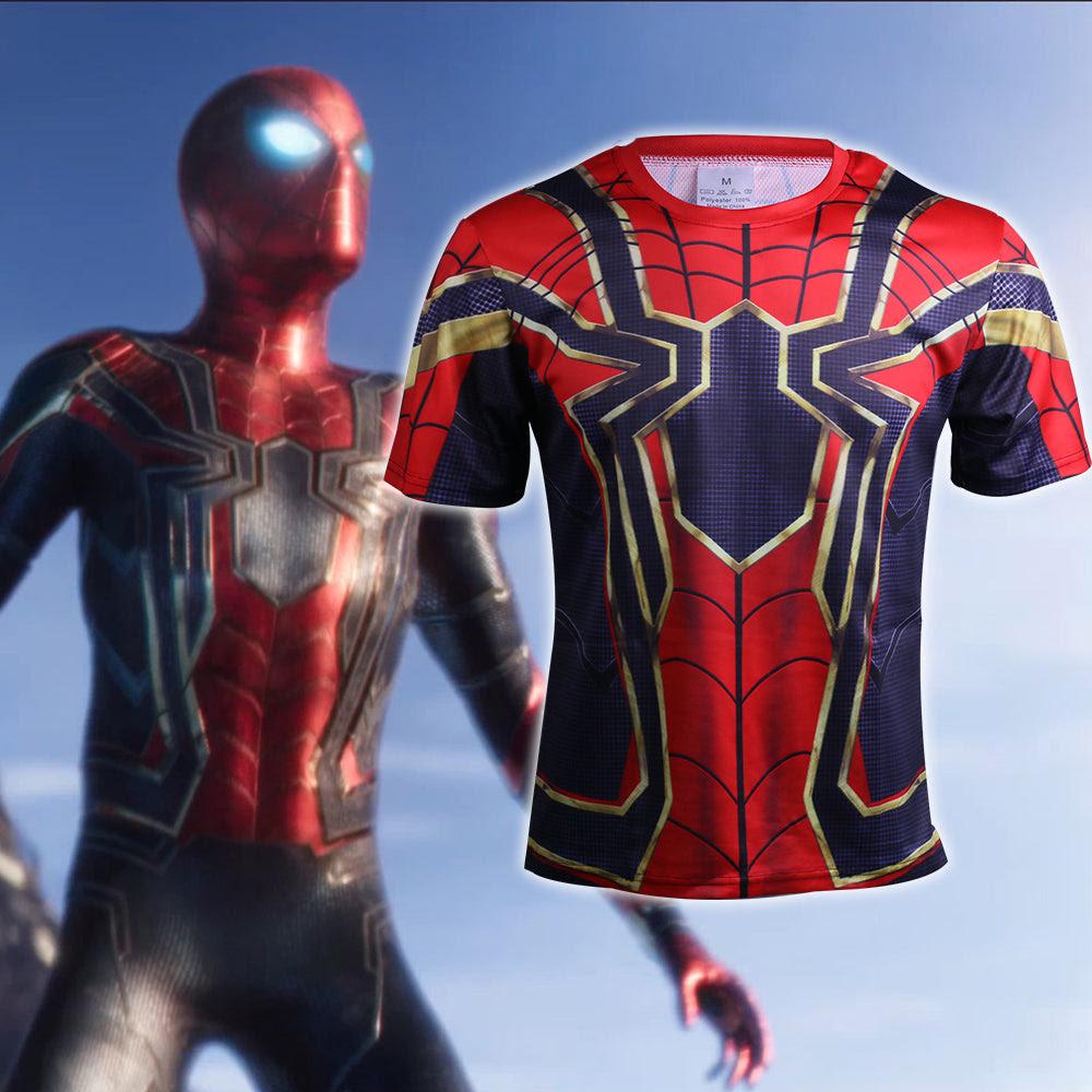 Avengers Infinity War Cosplay Iron Spiderman 3d Sports T Shirts