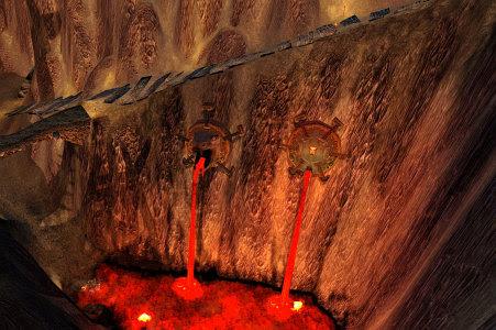 Ramp leading down into the Cauldron
