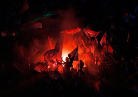 El júbilo en la Plaza Tahrir en Egipto. Foto: AP