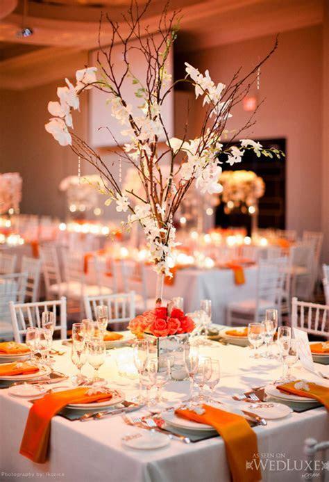 Gold Branches Wedding Centerpieces