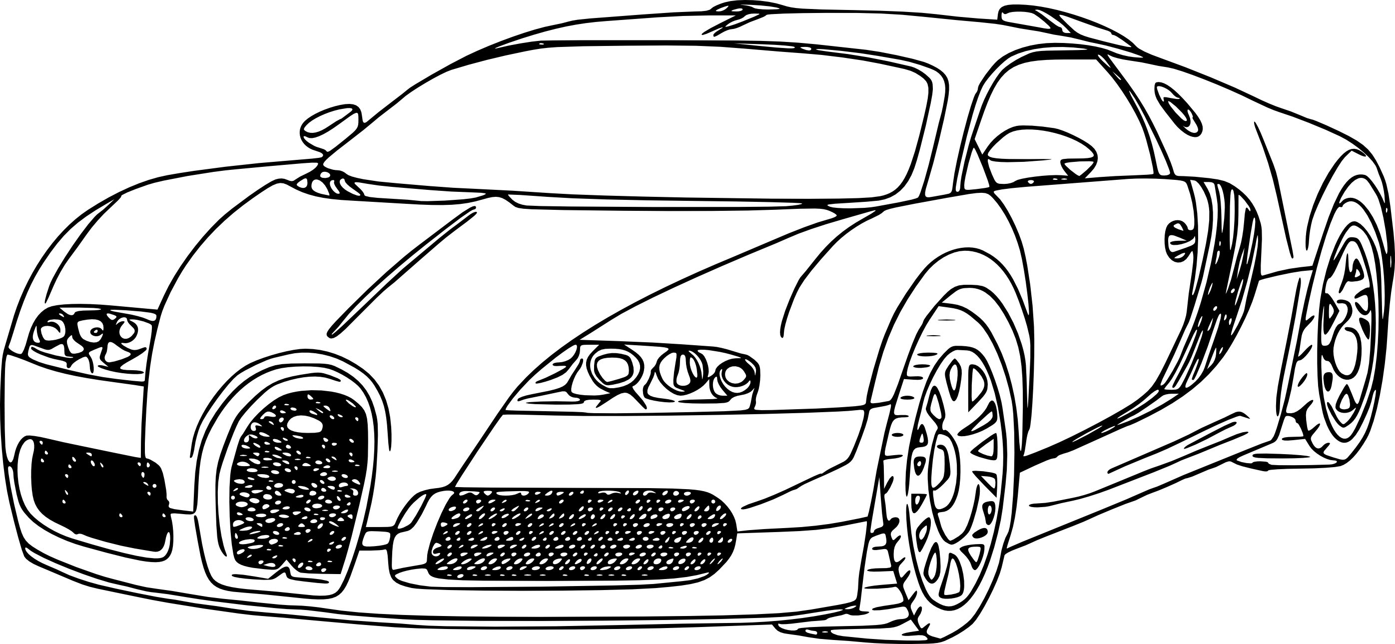 Bugatti Chiron Coloring Page At Getdrawings Free Download
