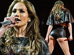 Jennifer Lopez displays her curvaceous derriere in a pair of tiny leather hotpants as she reveals the results of new vegan diet