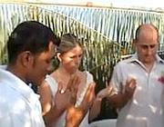 Un'immagine tratta dal video delle nozze postato su YouTube