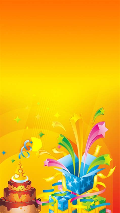 Yellow Birthday Cake Image For H5 Background Elements
