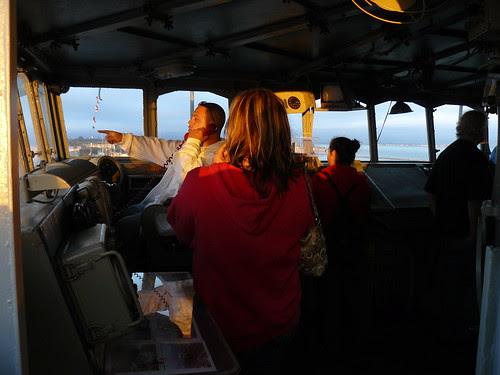 On the U.S.S. Hornet's bridge