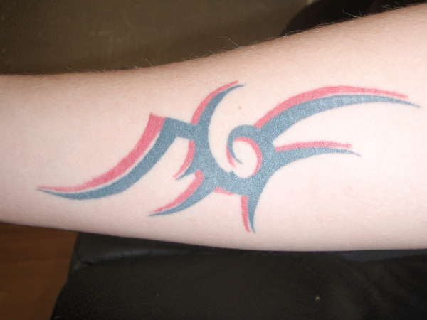 Black And Red Tribal Tattoo
