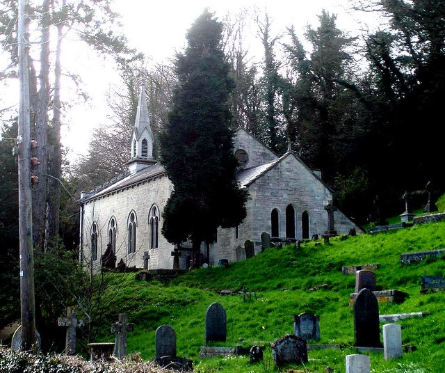 Slad - Holy Trinity. Laurie Lee is buried here.