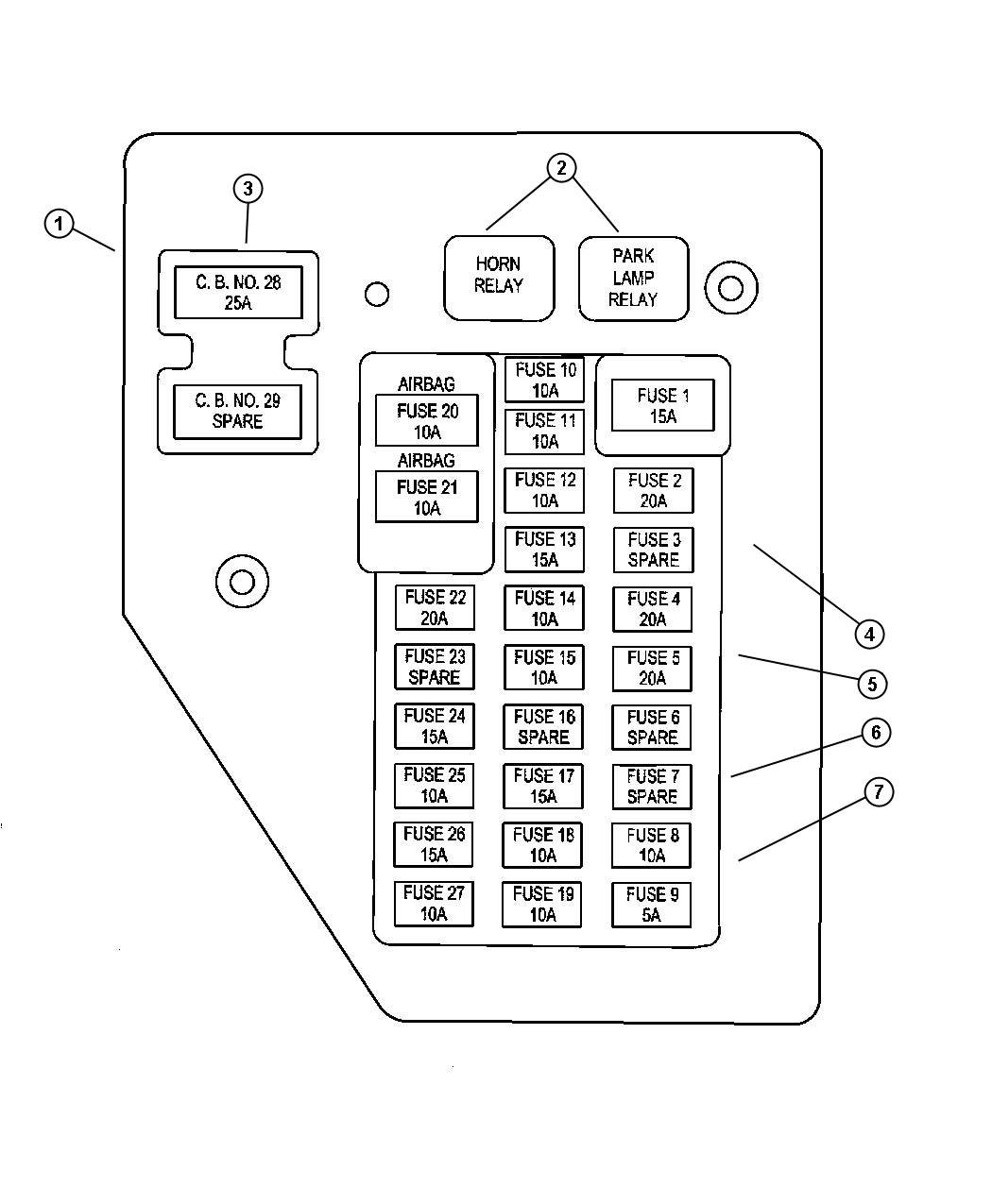 42632b 2003 Ford Crown Vic Fuse Box Diagram Wiring Library
