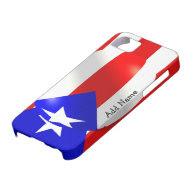 Puerto Rico Flag iPhone 5 Cases