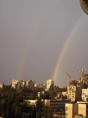 Double rainbow in Jerusalem