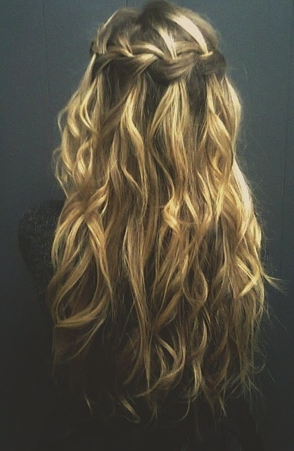 waterfall braid i want long hair