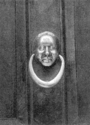 """THE KNOCKER THAT SUGGESTED SCROOGE IN DICKENS' """"CHRISTMAS CAROL."""""""