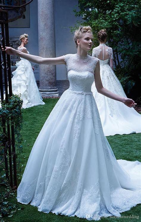 Discount Vintage Garden Wedding Dresses 2017 Scoop