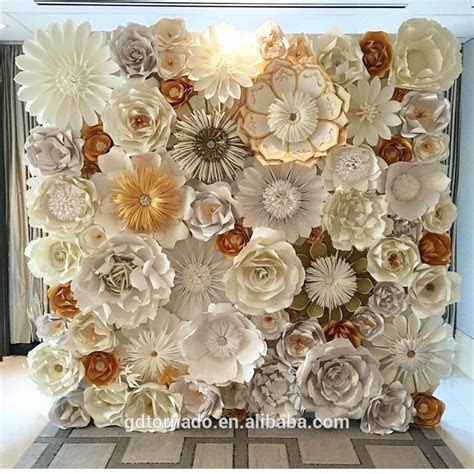 Large Paper Flowers Backdrop / Giant Paper Flowers