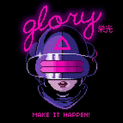 glory  valenberg retro future   pixel art