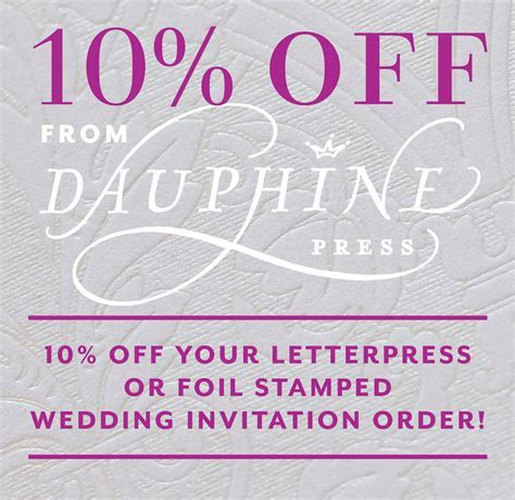 Foil Stamped Wedding Invitations Discount!   Paper and Home