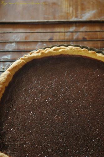 Tarte al cioccolato e pere caramellate