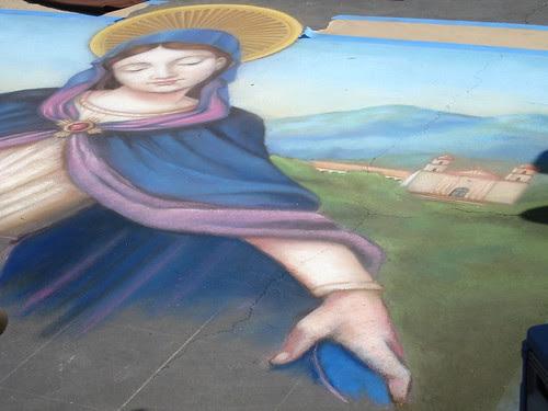 Saint Barbara watches over by santa barbarian