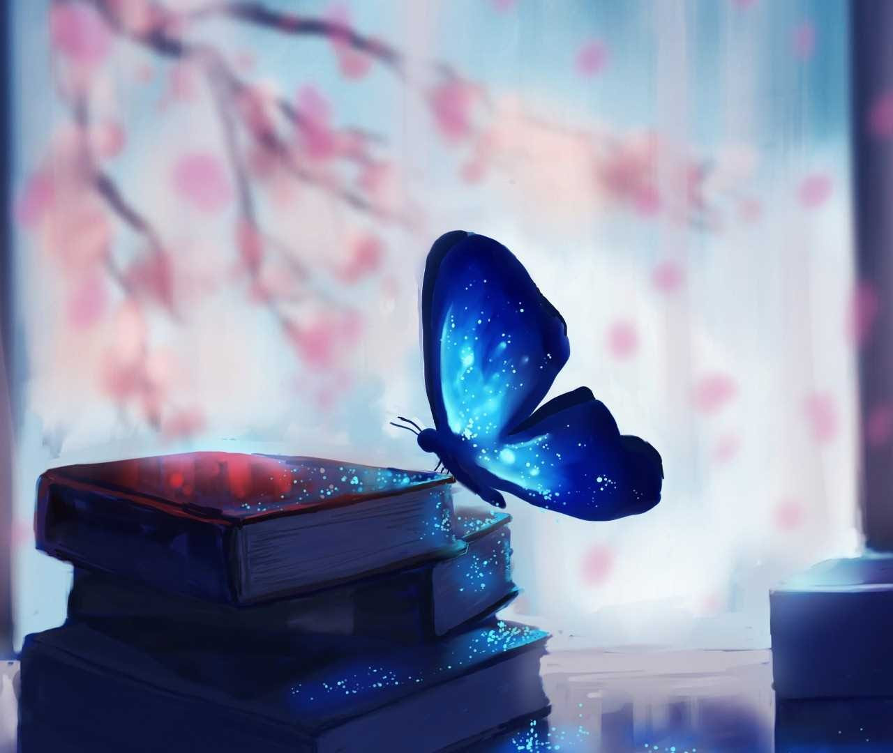 Blue Morpho Butterfly Background Wallpapers 20742 - Baltana